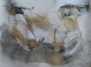 IMG3915Canard, 57cm x 77cm, technique mixte, papier arches, graphite, poussière d'or, 2014