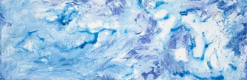 Glace et eau,  25cm x76cm, technique mixte, 2009