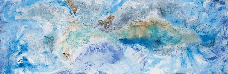 Sur la banquise, 25cm x 76cm, technique mixte, 2009