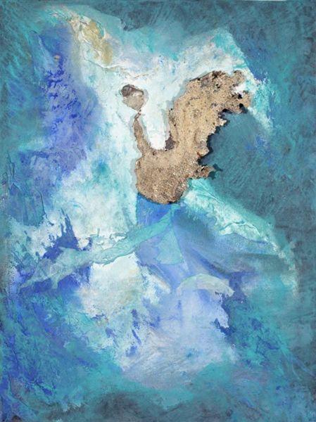 Dune Froide, 40cm x 30cm, technique mixte, 2009
