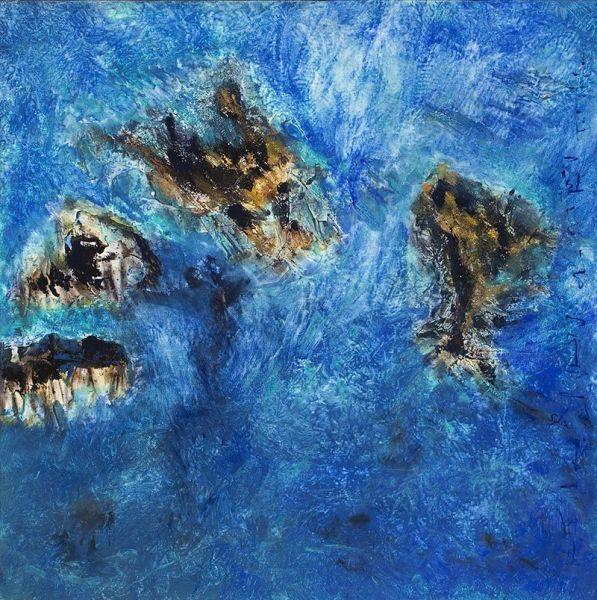 Puissances, 76cm x 76cm, technique mixte, 2009