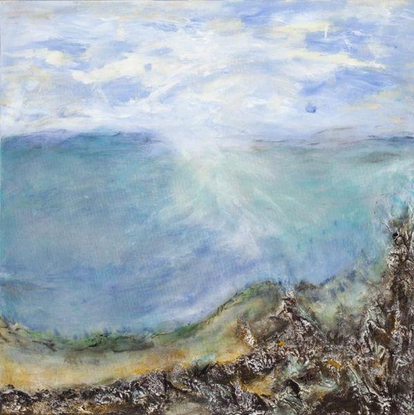 Vue d'eau, 76cm x 76cm, technique mixte, 2011