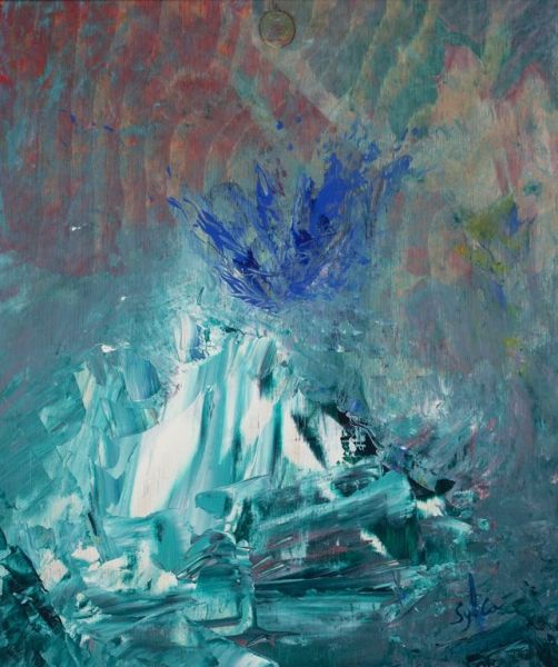 Imagine, 40cm x 30cm, acrylique sur bois, 2006