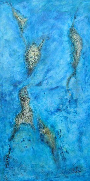 Berceau de vie, 121.5cm x 60.5cm, technique mixte, 2013